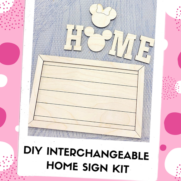 Interchangeable DIY Sign Kit - Home