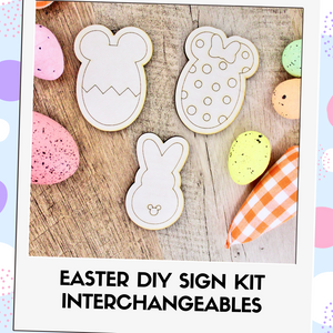 DIY Kit Interchangeable Wood Pieces - Easter