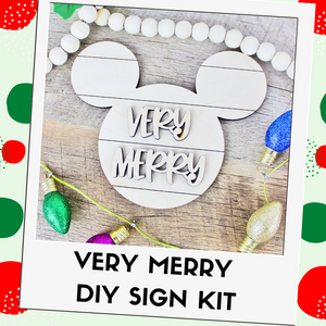 Very Merry Mouse Sign DIY Kit - Two Sizes Available!