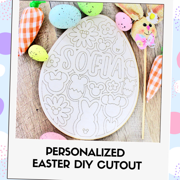 Personalized DIY Easter Egg Cutout