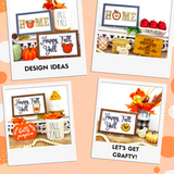 DIY Kit Interchangeable Wood Pieces - Fall