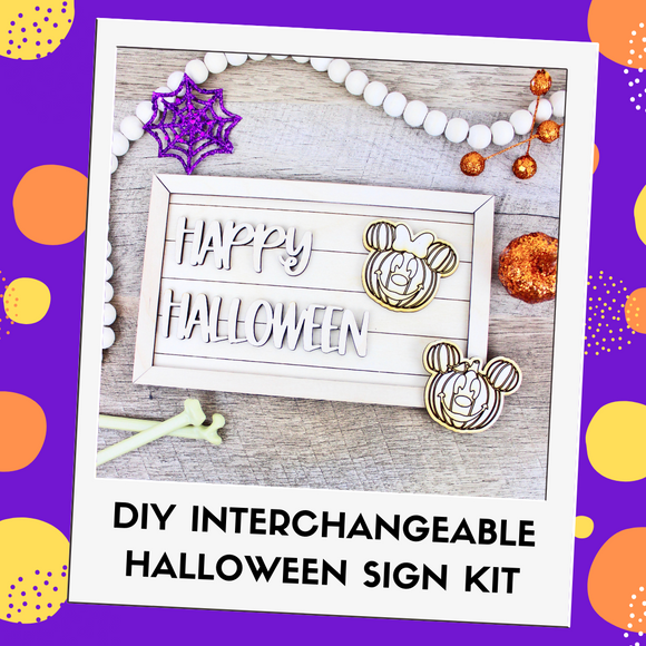 Interchangeable DIY Sign Kit - Happy Halloween