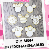 DIY Kit Interchangeable Wood Pieces