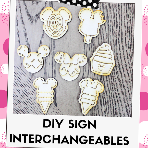 DIY Kit Interchangeable Wood Pieces - Snacks