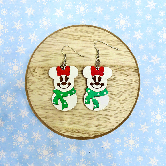 Snowman Mouse Earrings