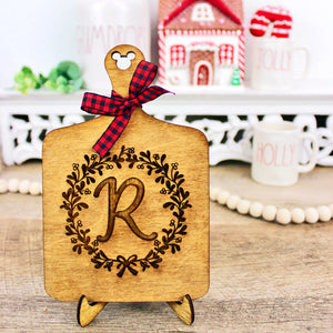 Faux Cutting Board - Letter Wood Decor