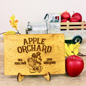 Apple Orchard - Engraved Wood Home Decor