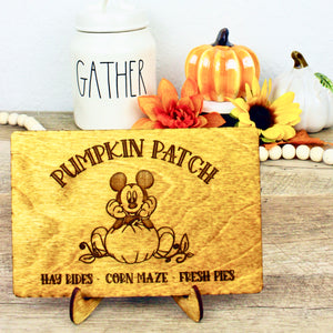 Pumpkin Patch - Engraved Wood Home Decor