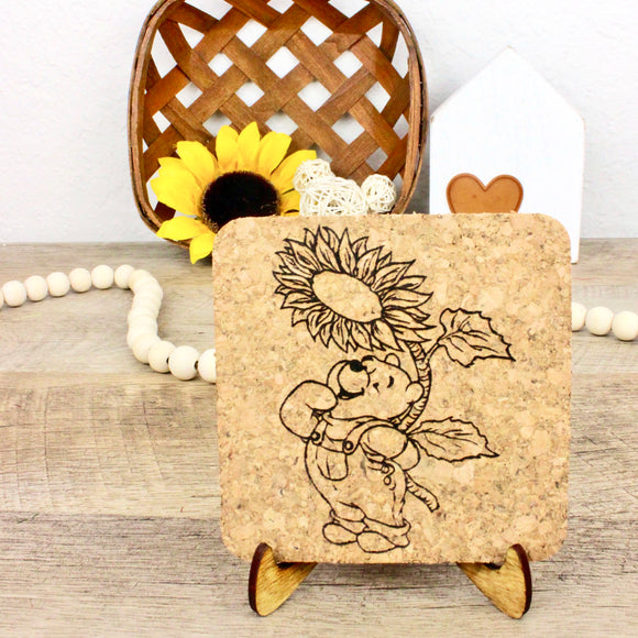 Sunflower Farm Cork Trivet