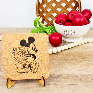 Apple Picking Cork Trivet