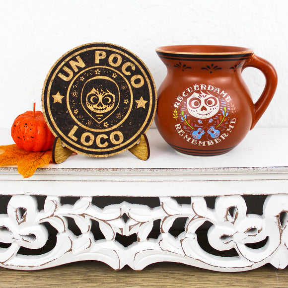 Un Poco Loco Cork Trivet or Mini Trivet
