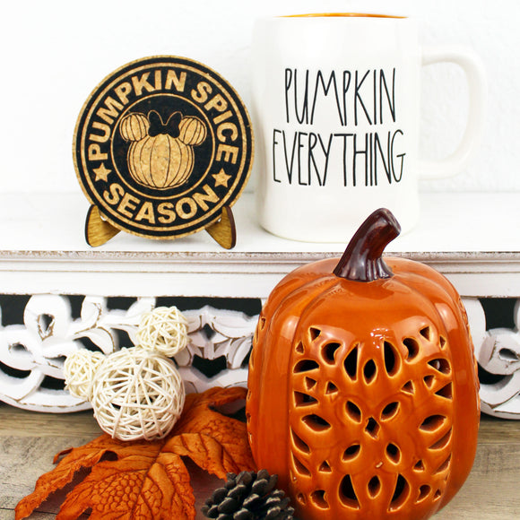 Pumpkin Spice Season Cork Trivet or Mini Trivet