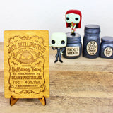 Skellington Brew - Engraved Wood Home Decor