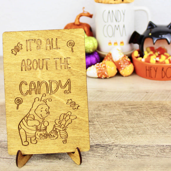 All About the Candy - Engraved Wood Home Decor