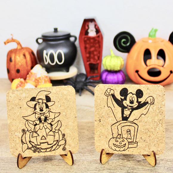 Halloween Mouse Cork Trivets