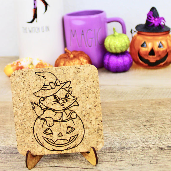 Sassy Witch Cork Trivets