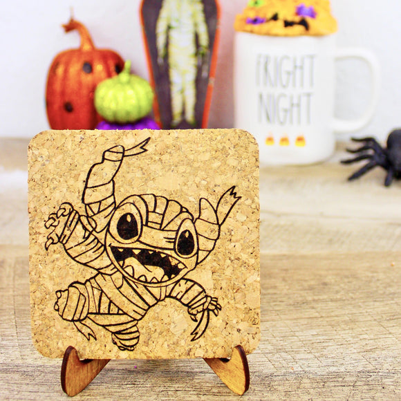 Mummy Experiment 626 Cork Trivets