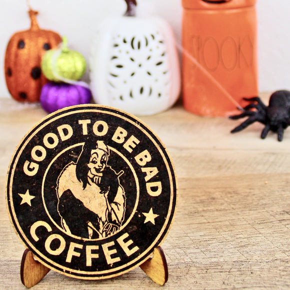 Good to Be Bad Coffee Cork Trivet or Mini Trivet