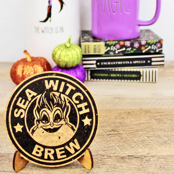 Sea Witch Coffee Cork Trivet or Mini Trivet