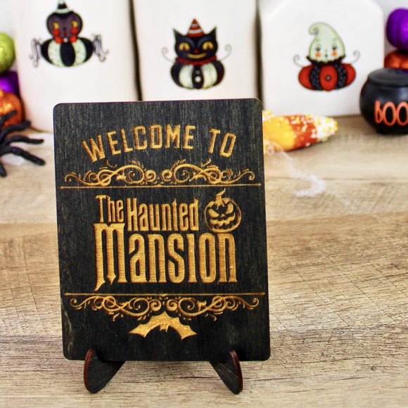 Haunted Mansion - Engraved Wood Home Decor
