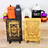Tower of Terror - Engraved Wood Home Decor