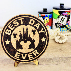 Best Day Ever Coffee Cork Trivet or Mini Trivet