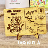 Happy Birthday! - Personalized Engraved Wood Home Decor