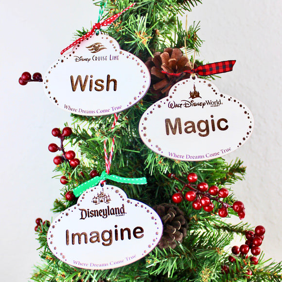 Holiday Magic -  Name Tag Ornaments