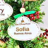 Personalized Name Tag Ornaments - Distressed White Wood