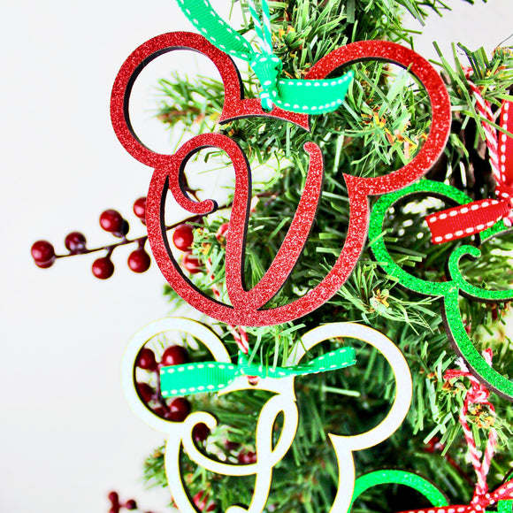 Glitter Wood Letter Ornaments