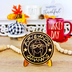Friendsgiving Cork Trivet or Mini Trivet