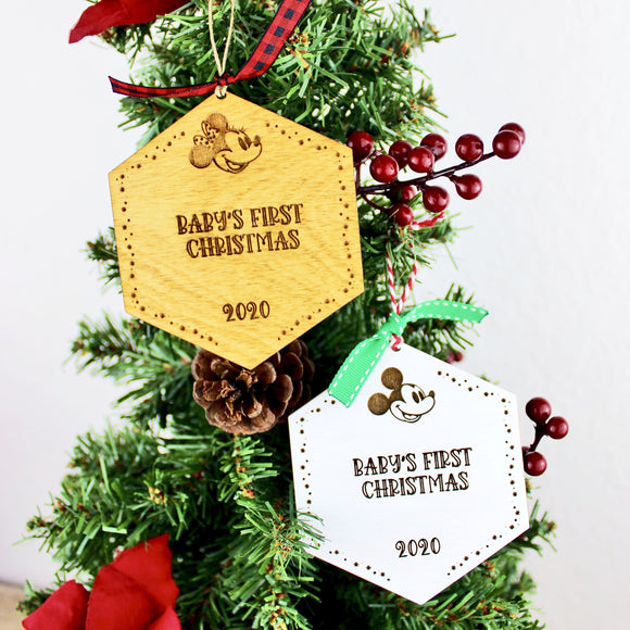 Park Paver Inspired Ornaments - Baby's First Christmas 2020