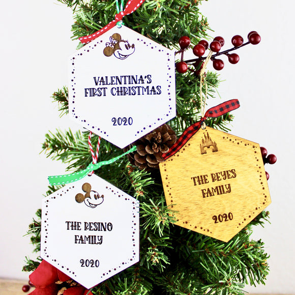 Park Paver Inspired Ornaments - Custom Text