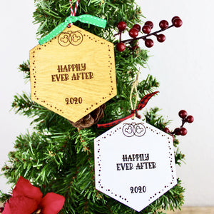 Park Paver Inspired Ornaments - Happily Ever After - You Select the Year
