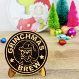 Grinchmas Brew Coffee Cork Trivet or Mini Trivet