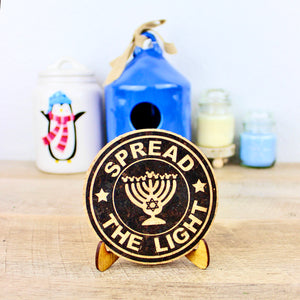 Hanukkah Coffee Cork Trivet or Mini Trivet