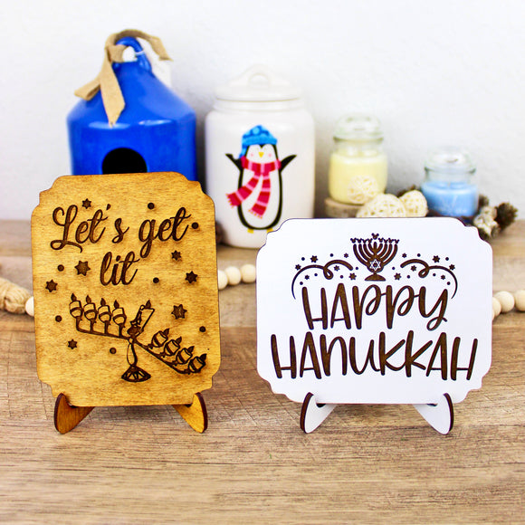 Hanukkah Signs - Wood Home Decor