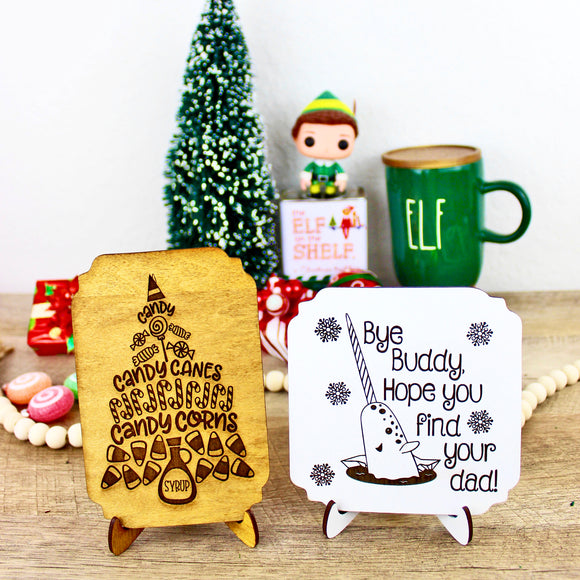 Elf Christmas Signs - Wood Home Decor