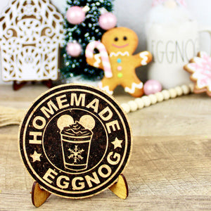 Homemade Eggnog Cork Trivet or Mini Trivet