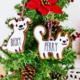 Custom Gingerbread Cookie Pet Inspired Ornaments