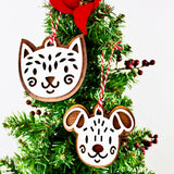 Gingerbread Cookie Pet Inspired Ornaments