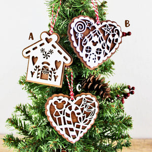 Gingerbread Cookie Inspired Ornaments