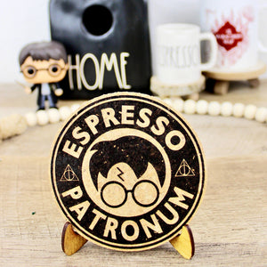 Espresso Patronum Coffee Cork Trivet or Mini Trivet