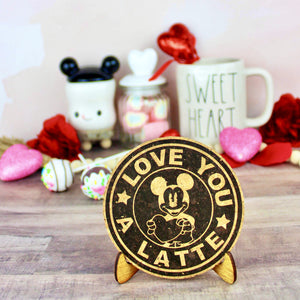 Love You a Latte Cork Trivet or Mini Trivet