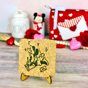 XOXO Mouse Mini Cork Trivet