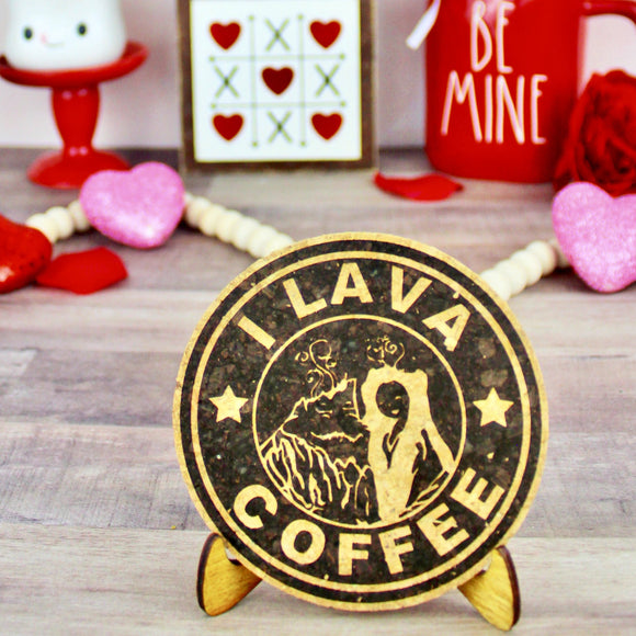 I Lava Coffee Cork Trivet or Mini Trivet