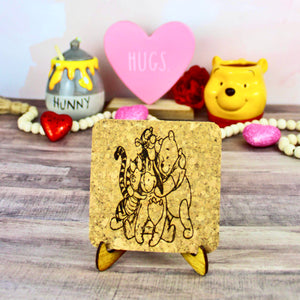 Hundred Acre Wood Friends Mini Cork Trivet