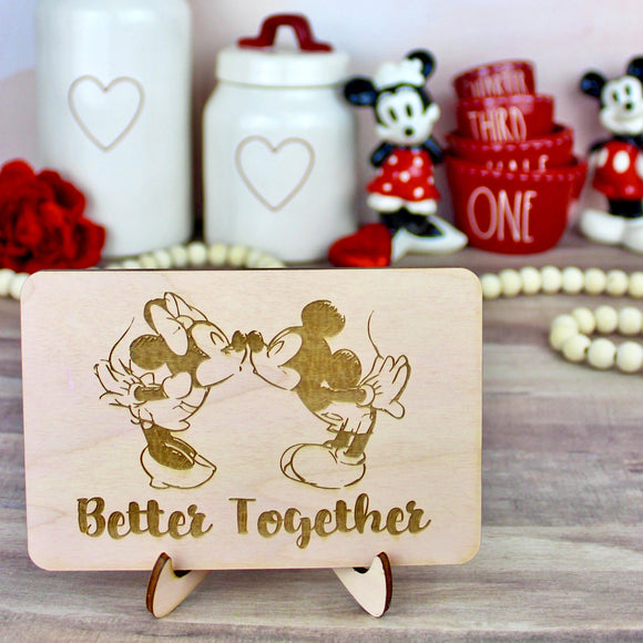 Better Together Wood Sign- Valentine's Day Home Decor