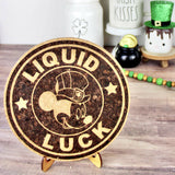 Liquid Luck Cork Trivet or Mini Trivet