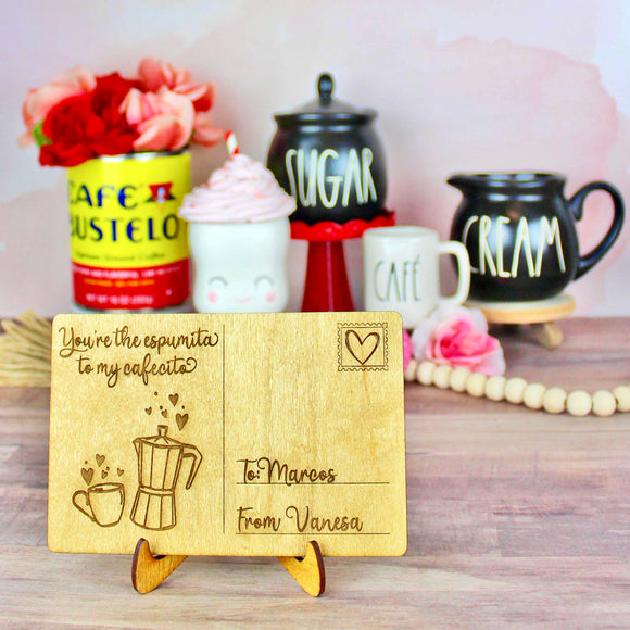 Espumita and Cafecito - Personalized Engraved Wood Home Decor